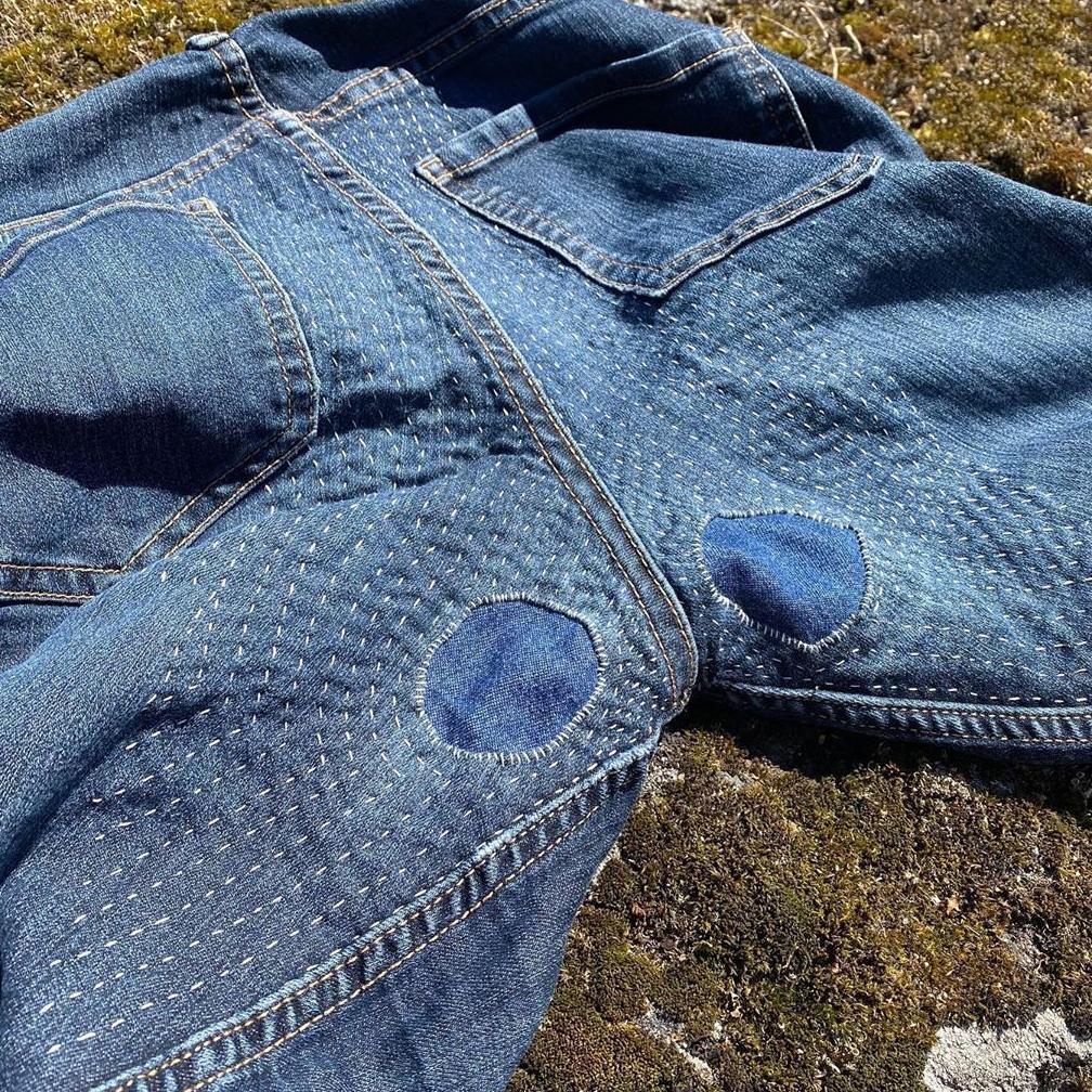 lagade jeans av Anki Borja