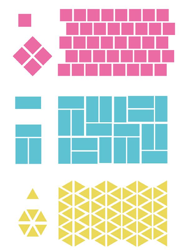 geometriska stämplar
