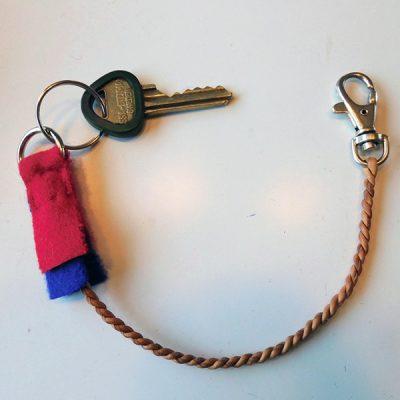 nyckelrem i skinn